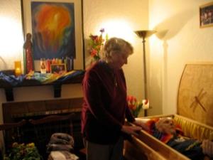 Jack's casket
